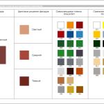 Цветовое решение вывески - красно-кирпичный фасад